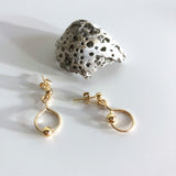 #037 - Single Gold Ball Earring - Wholesale