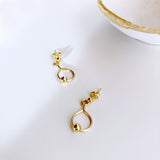 Single Gold Ball Earring