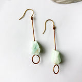 Raw Jade Earring