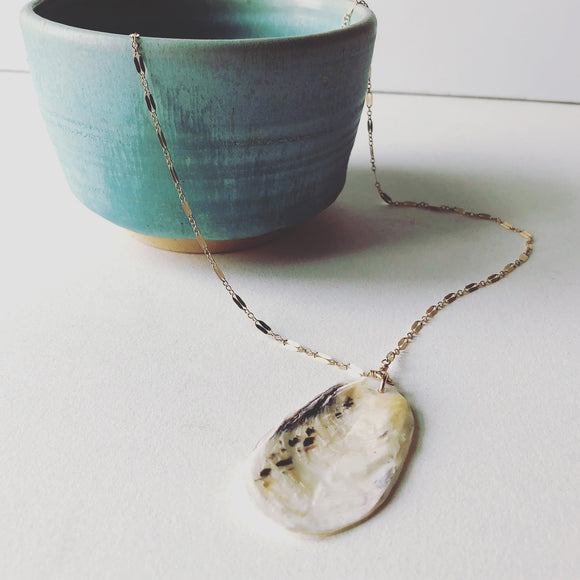 Oyster Shell Necklace
