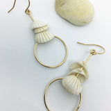 White Shell Earring