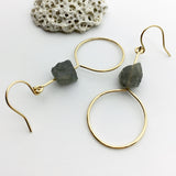 Labradorite Rough Earring