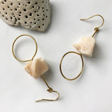 #050 - Raw Pink Opal Earring - Wholesale