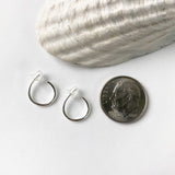 Mini Sterling Hoop Earring