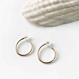 Little Gold Hoop Earring
