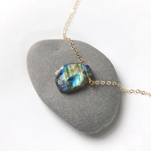 Labradorite Small Pendant Necklace