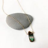 #068 - Abalone Small Pendant Necklace - Wholesale