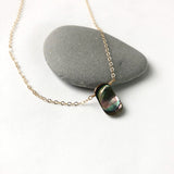 Abalone Shell Small Pendant Necklace