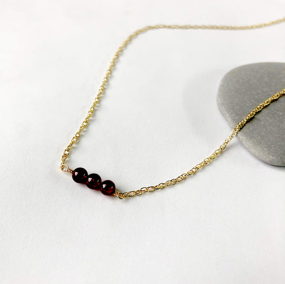 Garnet Three Necklace