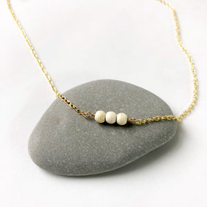#057 - Howlite Three Necklace - Wholesale
