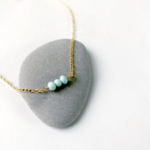 #055 - Turquoise Three Necklace - Wholesale