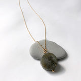 Labradorite Coin Necklace