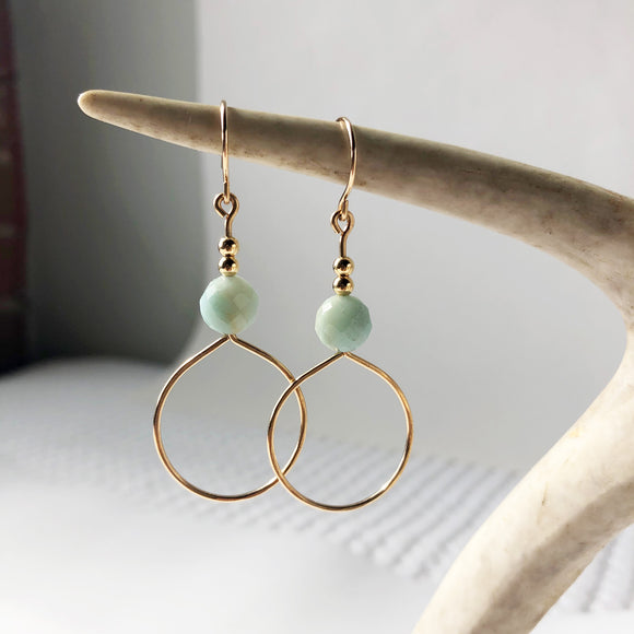 Amazonite Earring