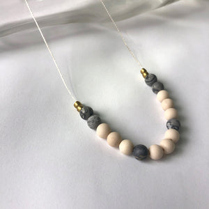 Riverstone + Picasso Jasper Necklace