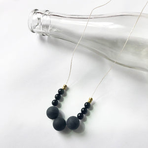 Blackstone + Obsidian Necklace
