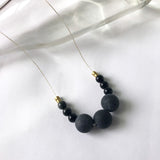 #082 - Blackstone + Obsidian Necklace - Wholesale