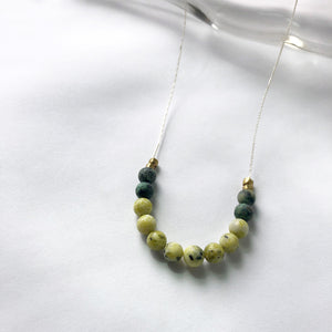 Yellow + African Turquoise Necklace