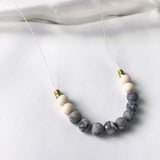 #090 - Picasso Jasper + Riverstone Necklace - Wholesale