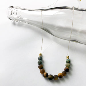 Tiger's Eye + African Turquoise Necklace