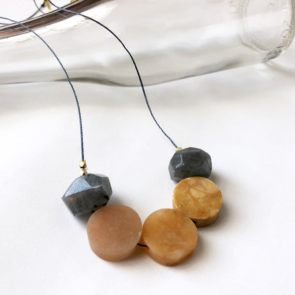 Yellow Jasper + Labradorite Necklace