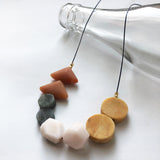 Red Aventurine + Labradorite + Pink Opal + Yellow Jasper Necklace
