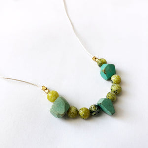 Turquoise + Yellow Turquoise Necklace
