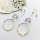 #023 - Crystal Quartz Earring - Wholesale