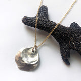 Mixed Metal Jingle Shell Cast Necklace