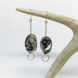 #002 - Abalone Shell Earring - Wholesale