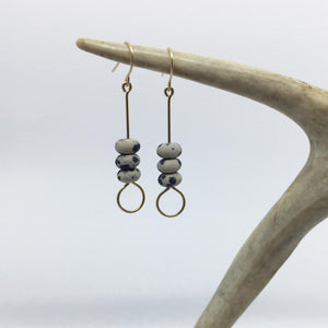 #006 - Dalmatian Stone Earring - Wholesale