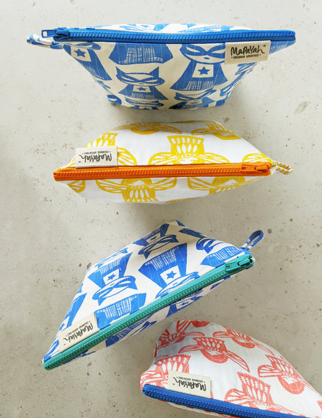 TRAVEL : Hand-Printed 100% Cotton Kids Essential Toilet Kit by MAPAYAH
