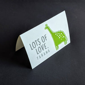 TENT - Personalised Gift Cards : Dreamy Dino