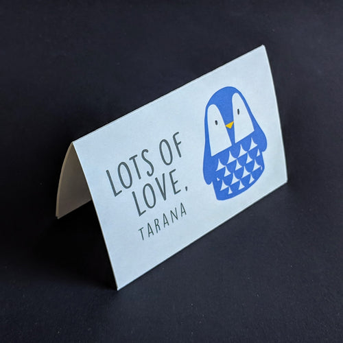 TENT - Personalised Gift Cards : Cool Penguin
