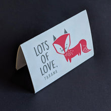 TENT - Personalised Gift Cards : Fancy Fox