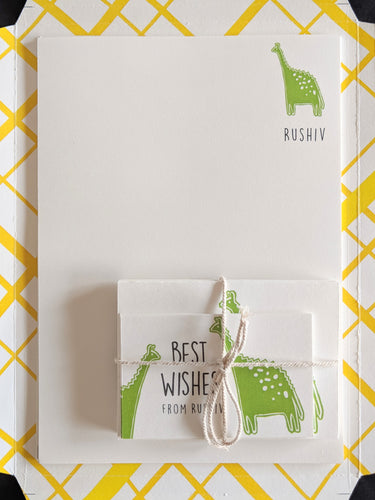 KIT - Personalised Stationery Set : Dreamy Dino