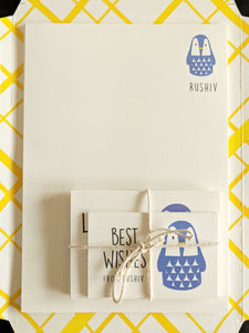 KIT - Personalised Stationery Set : Cool Penguin