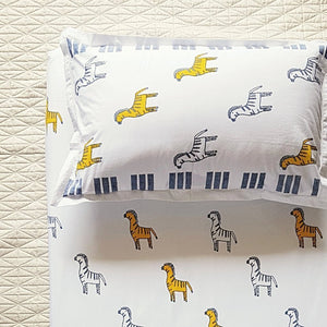 Sleep, Birthday gift, Breath easy, pillow, bed sheet, 100% woven cotton, comfort, cozy, block print, summer, machine wash, cotton, kids decor, mapayah, Scandinavian design, kids room, fun prints, kids furniture, hand fishished, easy to clean, bespoke patterns, zany zebra