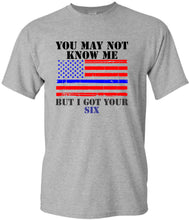 GOT YOUR SIX - Thin Blue Line - Short Sleeve T shirt