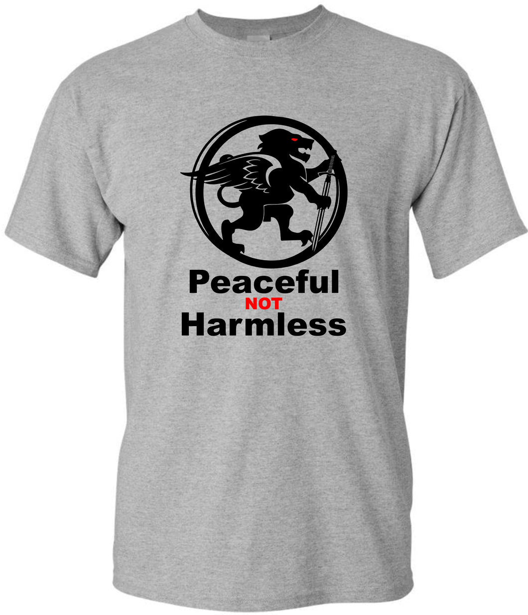 Peaceful NOT Harmless - Short Sleeve T shirt