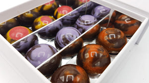 9 Fruitbonbons van Chocoladebox in luxe wit doosje