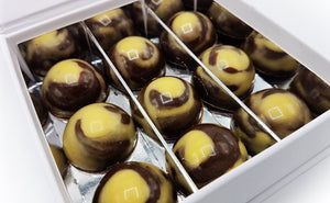 9 Irish Coffee bonbons van Chocoladebox in luxe wit doosje