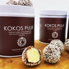 Kokostruffels in blik - Chocoladebox special.