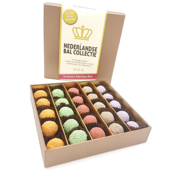 De Nederlandse Bal Selection Box - bonbons -chocolade - Chocoladebox.nl