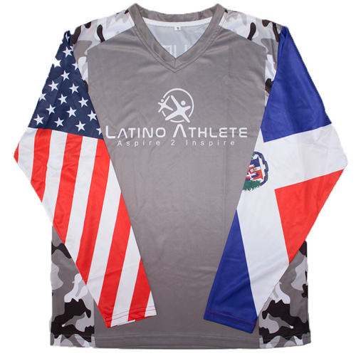 Dominican American Long Sleeve Camo