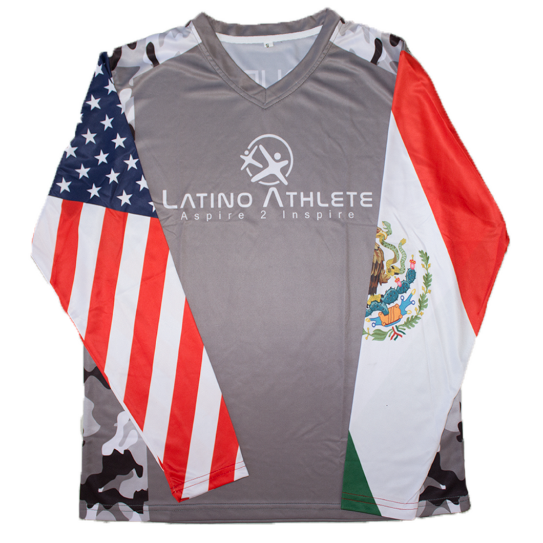 Mexican American Long Sleeve Camo