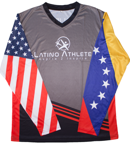 Venezuelan American Long Sleeve Stripes