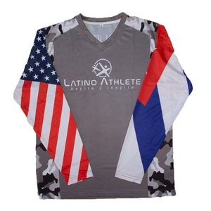 Cuban American Long Sleeve Camo