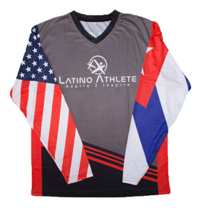 Cuban American Long Sleeve Stripes