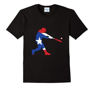 Fashion Men's Cotton T-Shirt Men's Puerto Rico Baseball T-Shirt Classic T-Shirt Design Your Own Tee Shirt