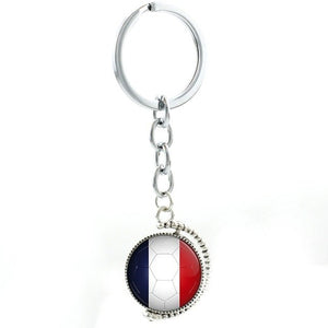 TAFREE Rotatable double sides Colombia football team men women keychain sports pendant City Map key chain ring Jewelry N494